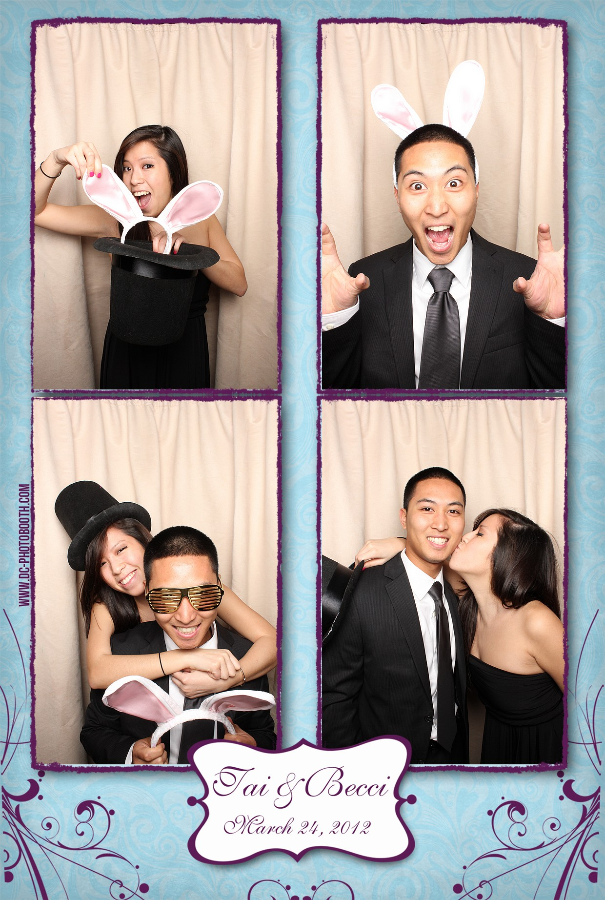 DC Photobooth - Guests having fun in the photobooth at the Truong Wedding